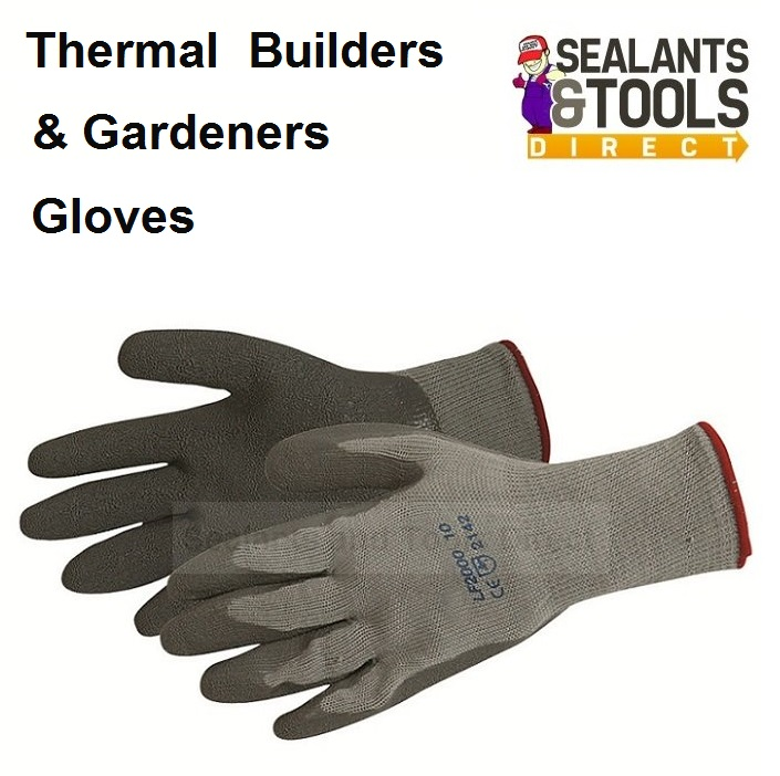 Silverline One Size Thermal Builders Garden Gloves 868642